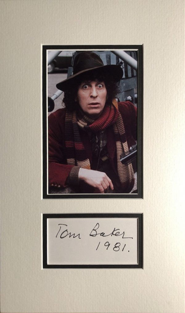 Tom Baker Autograph Page