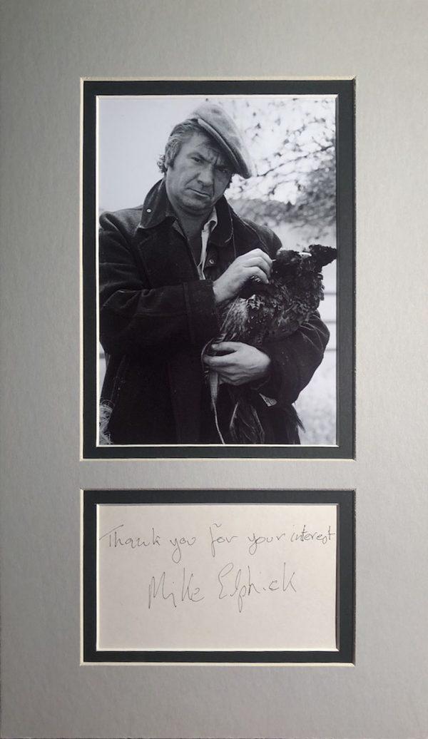 Michael Elphick Autograph Page