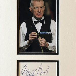 Steve Davis, OBE (born 22 August 1957) is a retired English professional snooker player from Plumstead, London. He dominated the sport during the 1980s, when he reached eight World Snooker Championship finals in nine years, won six world titles, held the world number one ranking for seven consecutive seasons