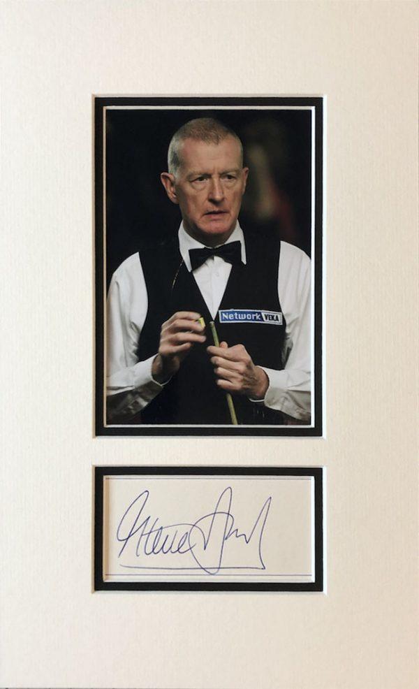 Steve Davis Autograph Card