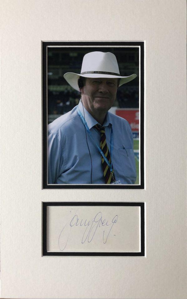 Tony Greig Autograph Page
