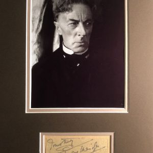 Ernest Frederic Graham Thesiger, CBE (15 January 1879 – 14 January 1961) was an English stage and film actor. He is noted for his performance as Doctor Septimus Pretorius in James Whale's film, Bride of Frankenstein (1935).