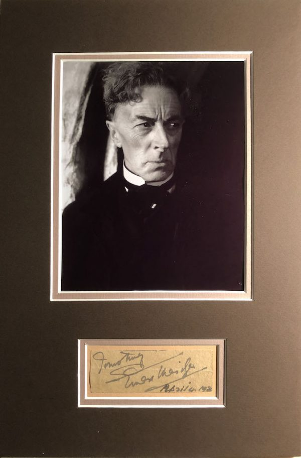Ernest Thesiger Autograph Page