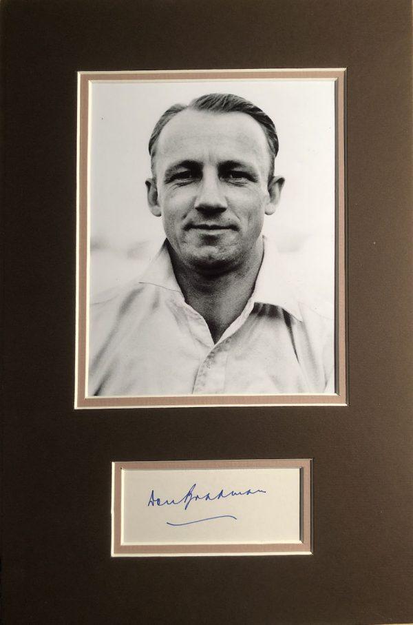 Don Bradman Autograph Page