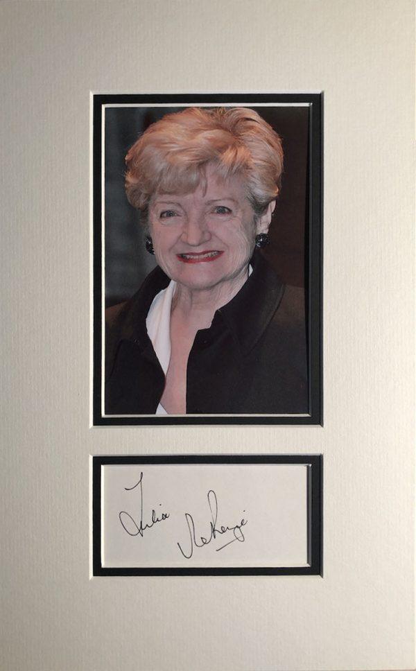 Julie McKenzie Autograph Card