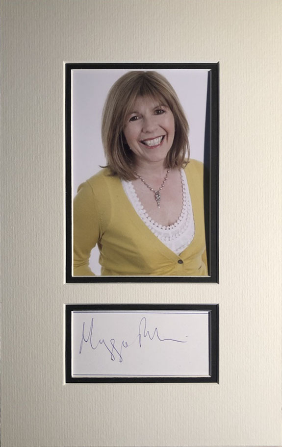 Maggie Philbin Autograph Mounted