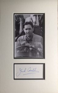 Jack Brabham Autograph Mounted
