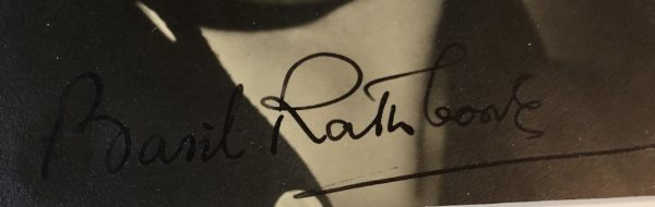Basil Rathbone Autograph