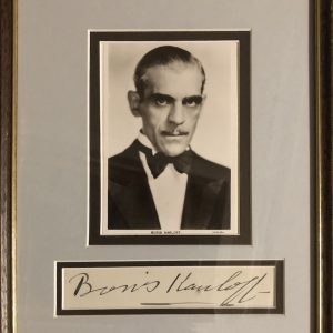 William Henry Pratt (23 November 1887 – 2 February 1969), better known by his stage name Boris Karloff (/ˈkɑːrlɒf/), was an English actor who was primarily known for his roles in horror films. He portrayed Frankenstein's monster in Frankenstein (1931), Bride of Frankenstein (1935), and Son of Frankenstein (1939).
