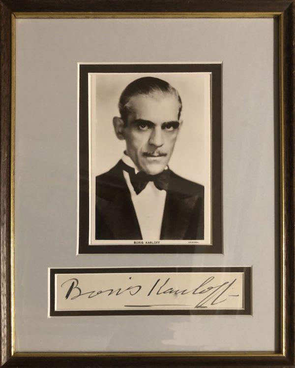 Boris Karloff Autograph