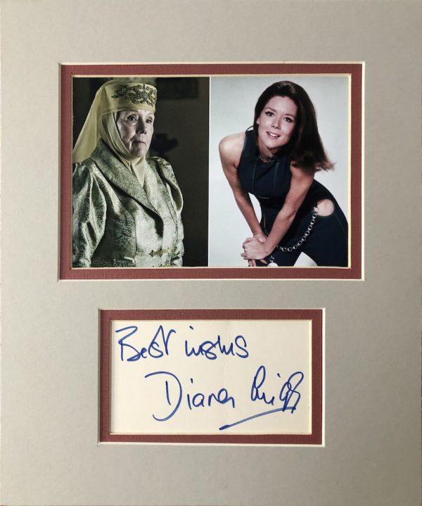 Diana Rigg Autograph Card