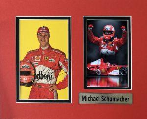 Michael Schumacher Autograph Postcard