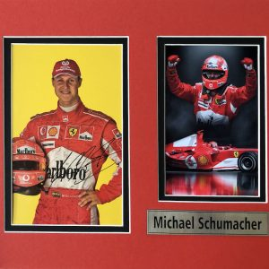 Michael Schumacher (born 3 January 1969) is a retired German racing driver who competed in Formula One for Jordan, Benetton, Ferrari and Mercedes. Schumacher has a joint-record seven World Drivers' Championship titles and, at the time of his retirement from the sport in 2012