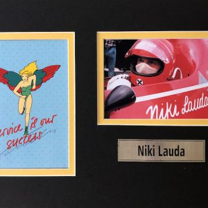 Andreas Nikolaus Lauda (22 February 1949 – 20 May 2019) was an Austrian Formula One driver and aviation entrepreneur. He was a three-time F1 World Drivers' Champion, winning in 1975, 1977 and 1984, and is the only driver in F1 history to have been champion for both Ferrari and McLaren, the sport's two most successful constructors.