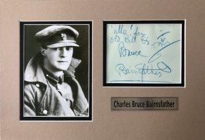 Bruce Bairnsfather Autograph Page