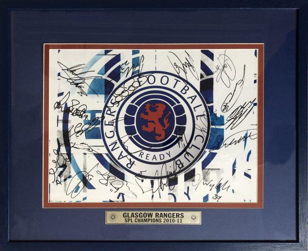 Glasgow Rangers Multi Signed Photo